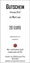 """Gutschein """"Flüssiges Glück"""" 20"""