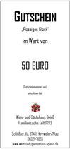 """Gutschein """"Flüssiges Glück"""" 50"""