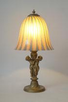"Prachtvolle Putto Tischlampe Jugendstil 2 verfügbar Messinglampe ""GOLDEN ANGEL"""