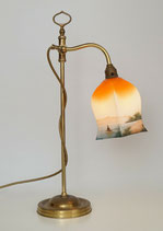 Französische Jugendstil Lampe original um 1920 Messinglampe Kontorleuchte