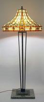 Unikat Sammlerstück Art Deco Stehlampe Stehleuchte Salonlampe prunkvoll Tiffany