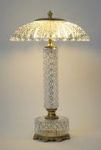 Wunderschönes Unikat Jugendstil Glas Tischlampe Kristallglas 1950er Messing