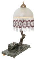 Einzigartige original Art Déco Schreibtischlampe Schreibtischgarnitur Marmor