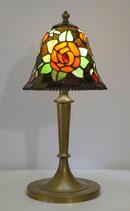 Wunderschöne unikate Jugendstil Tischlampe Messinglampe Tiffany