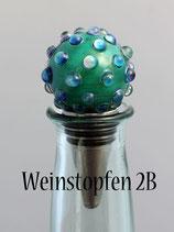 Weinstopfen mit Silberglas-Dots