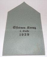 Sachet vide pour croix de fer seconde classe 1939 allemande WW2