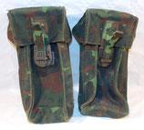Paire de cartouchières/pouchs camouflage flecktarn armée belge ABL