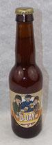 Bouteille de bière blonde commémorative D-DAY Normandie 1944