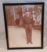 Cadre avec photo officier en tenue de sortie vétéran armée US