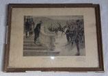 Cadre avec estampe Vaincre ou mourir Veille de la grande bataille de la Marne Joffre français WW1