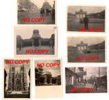 Lot de 7 photos allemandes WW2 Bruxelles Belgique