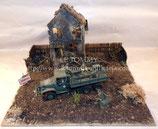 Diorama militaire américain GMC Avranches bataille de Normandie WW2 1/35ème