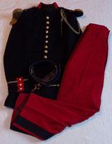 Grande tenue modèle 1931 tunique + pantalon + ceinturon officier 21ème RI Régiment d'Infanterie français 1930/WW2