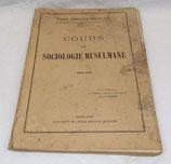 Manuel Ecole Spéciale Militaire de Saint-Cyr, Cours de sociologie musulmane 1936-1937 français WW2