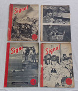 Lot de 4 magazines Signal INCOMPLETS allemand WW2