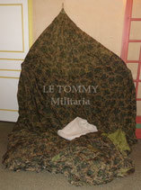 Voilure camouflée de parachute TAP 660 armée française Indochine/Algérie