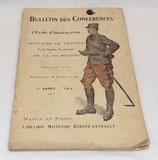 Bulletin des conférences de l'école d'instruction des officiers de réserve et de l'armée territoriale de la 20ème région, 7ème année 1914 N°1 français WW1