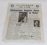 Tract/journal Le courrier de l'air (apporté par la RAF) 20 mai 1943 GB WW2