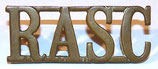 Shoulder title RASC Royal Army Service Corps GB WW1