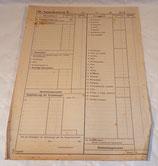 Document Kassenabrechnung, comptabilité de caisse allemand WW2