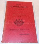 Revue d'artillerie Tome 92 2ème livraison 15 août 1923