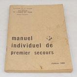 Manuel individuel de premier secours, édition 1982 armée française