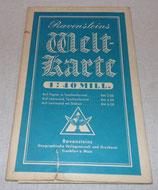 Carte du monde Ravensteins Welt-Karte 1942 allemande WW2