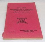 Bulletin d'information et de liaison des officiers d'artillerie d'active et de réserve, Ecole d'application d'artillerie, numéro 15 armée française