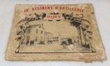 Album souvenir 48ème Régiment d'Artillerie RA de Dijon septembre 1910 français WW1