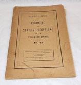 Livre Historique du Régiment de Sapeurs-Pompiers de la ville de Paris français