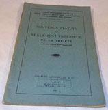 Nouveaux statuts et règlement intérieur de la société 1949 armée française