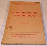 Aide-mémoire technique, Ecole Spéciale Militaire Inter-armes ESMIA, 1951 armée française