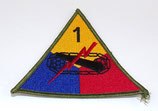 Insigne 1st Armored Division US WW2 REPRODUCTION