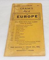 Carte de l'Europe CRAM'S US WW2