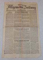 Journal Thuringer Allgemeine Zeitung 6 janvier 1944 allemand WW2
