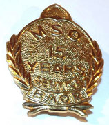 Insigne MSO Mixed Service Organisation 15 YEARS SERVICE BAOR British Army of the Rhine armée GB