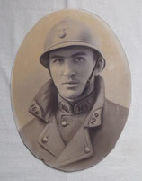 Portrait soldat 168ème RI Régiment d'Infanterie avec casque Adrian français WW1