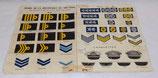 Affiche Armée de la république du Vietnam ARVN, Insignes distinctifs des grades, armée française