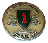 Challenge coin 1st Infantry Division Big Red One, Katterbach 4th Brigade Wings of Victory Germany armée US