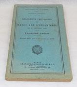Manuel Règlement provisoire de manœuvre d'infanterie du 1er février 1920, Première partie, Volume mis à jour le 1er septembre 1922 français WW2