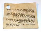 Notice pour pièces détachées servants à l'ensemble bonnet de vol et masque à oxygène USAAF US Air Force WW2
