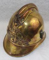 Casque modèle 1885 des Sapeurs-Pompiers de BOURG ACHARD (27, Eure, Normandie) français