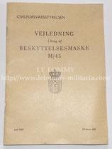 Manuel d'utilisation du masque à gaz Light GB édition danoise après-guerre