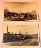 Lot de deux photos d'une ville détruite datées du 5 septembre 1944 allemandes WW2