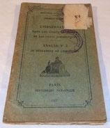 Manuel L'observation dans les corps de troupe et les unités subordonnées, Annexe N°2 au règlement de l'Infanterie 1937 (tampons 18ème RI) français WW2