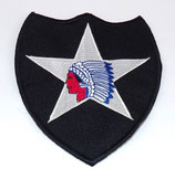 Insigne 2nd Infantry Division Indian Head US WW2 REPRODUCTION