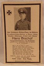 Avis de décès Heer Italie 1944 allemand WW2