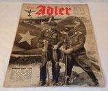 Magazine Der Adler numéro 22 du 4 novembre 1941 allemand WW2