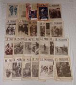 Lot de journaux Le Miroir et divers en mauvais état français WW1