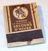 Paquet d'allumettes Vendu au bénéfice du secours d'hiver Belgique WW2